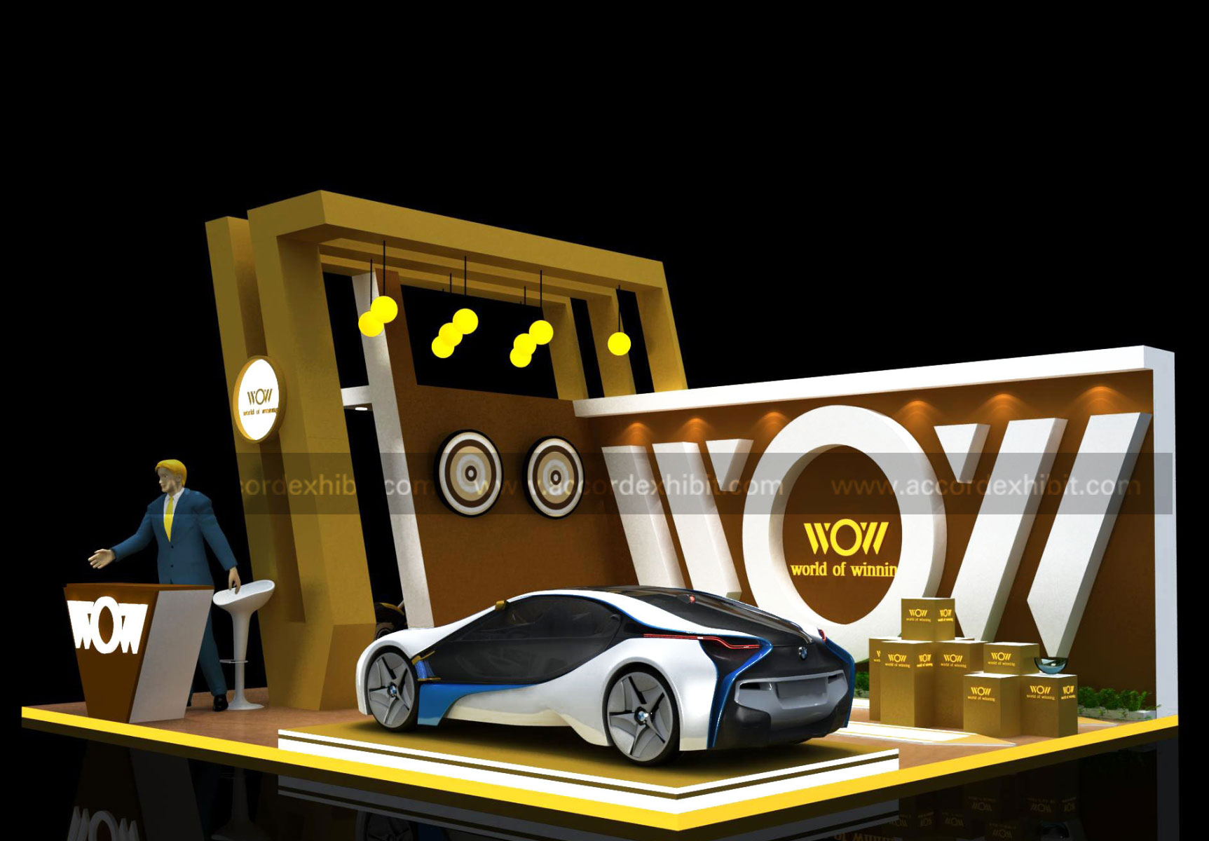 Exhibition Stall for WOW (World Of Winning)