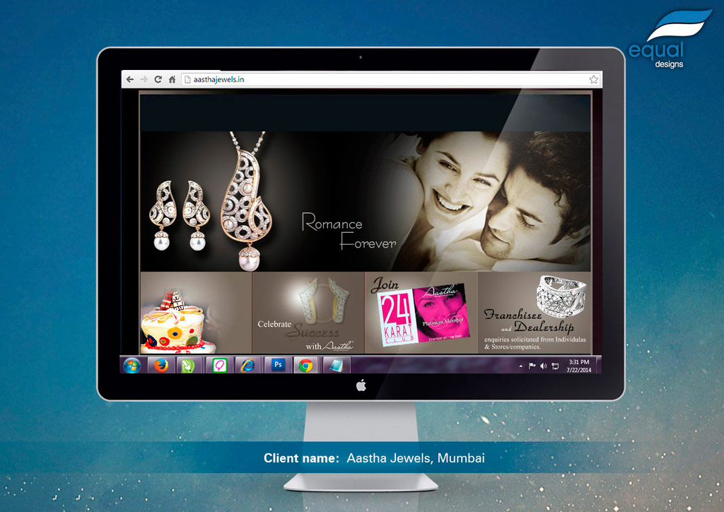 Website Design for Aastha Jewelers