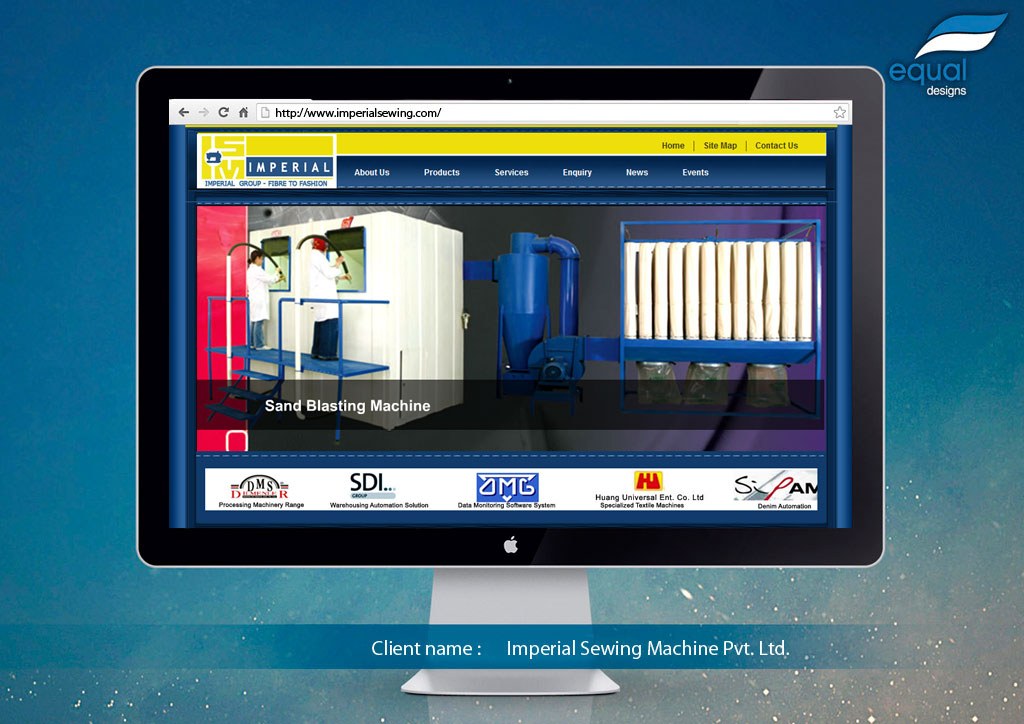 Website Design for Imperial Sewing Machine Pvt. Ltd.