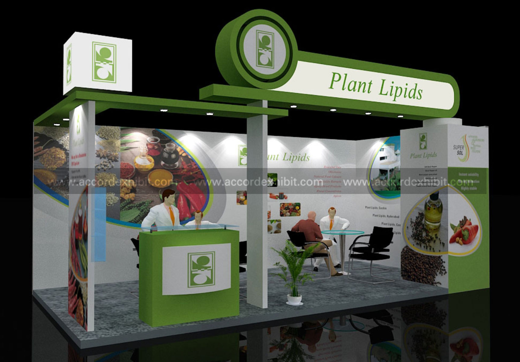 Exhibition Stall Ideas : Exhibition stall design for plant lipids btl activities
