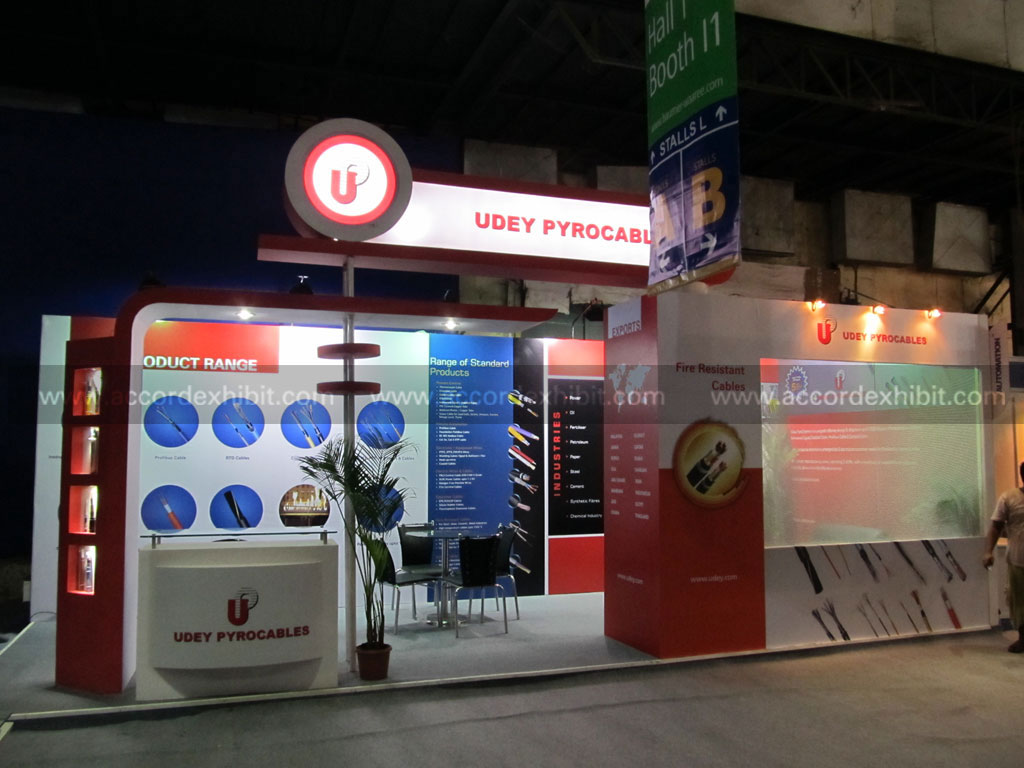 Exhibition Stall for Udey Pyrocables Pvt.